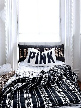 Victoria S Secret Reversible Quilted Comforter Pink