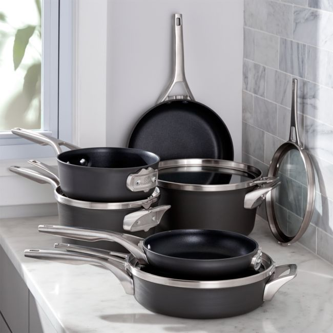 Calphalon Stackable 10-Piece Cookware + Reviews | Crate and Barrel