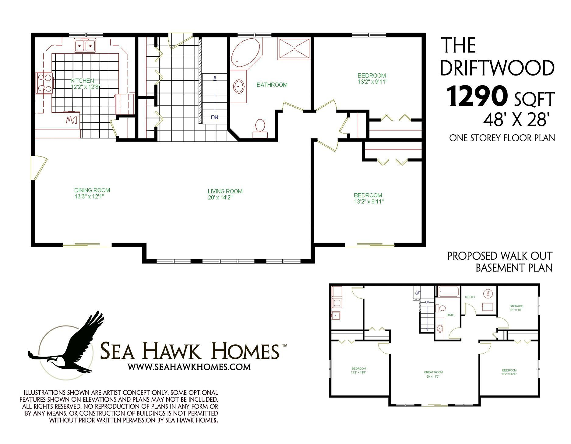 1200 Sq Ft Ranch House Plans With Basement In 2020 Basement Floor Plans Basement House Plans Four Bedroom House Plans