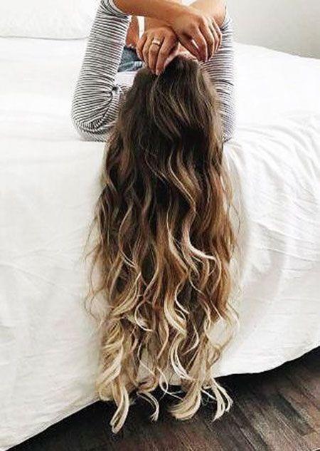 23 balayage lange lockige haarfarbe | frisuren, balayage