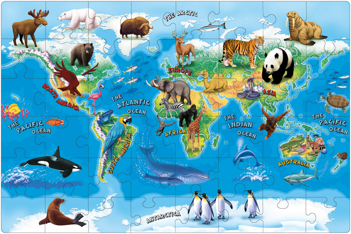 Kids World Map Puzzle