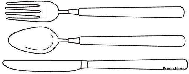 tenedor y cuchara para colorear - Buscar con Google | dibujos ...