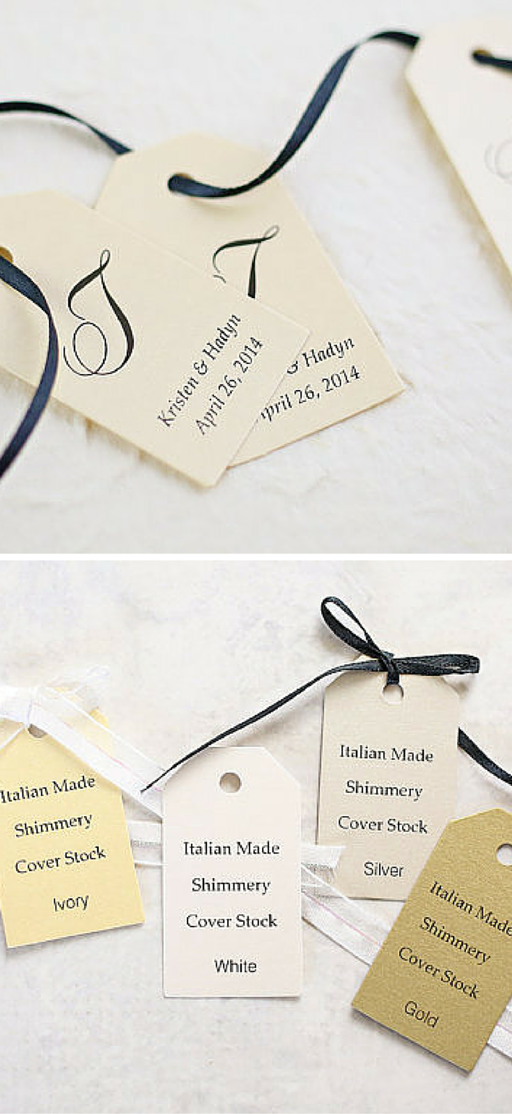 one doesn\'\'t usually think of monogram gift tags as a part essential ...