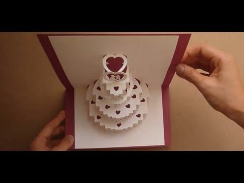 How to make a amazing wedding cake pop up card tutorial link for