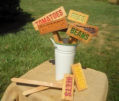 MADE to ORDER: 7 SIGNS, Mix  & Match, Custom Garden Signs Garden stakes Garden Markers