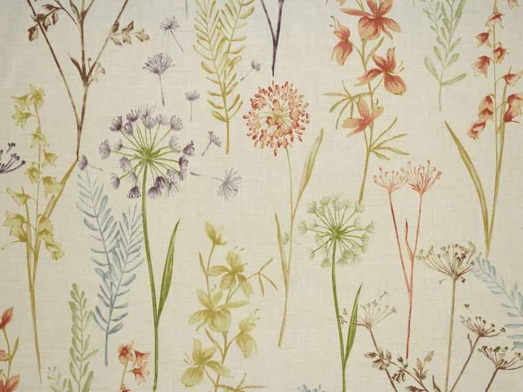 An Cotton Curtain Fabric Patterned With Terracotta Fl Patterns Available From Our Online Or Warehouse In Northamptonshire