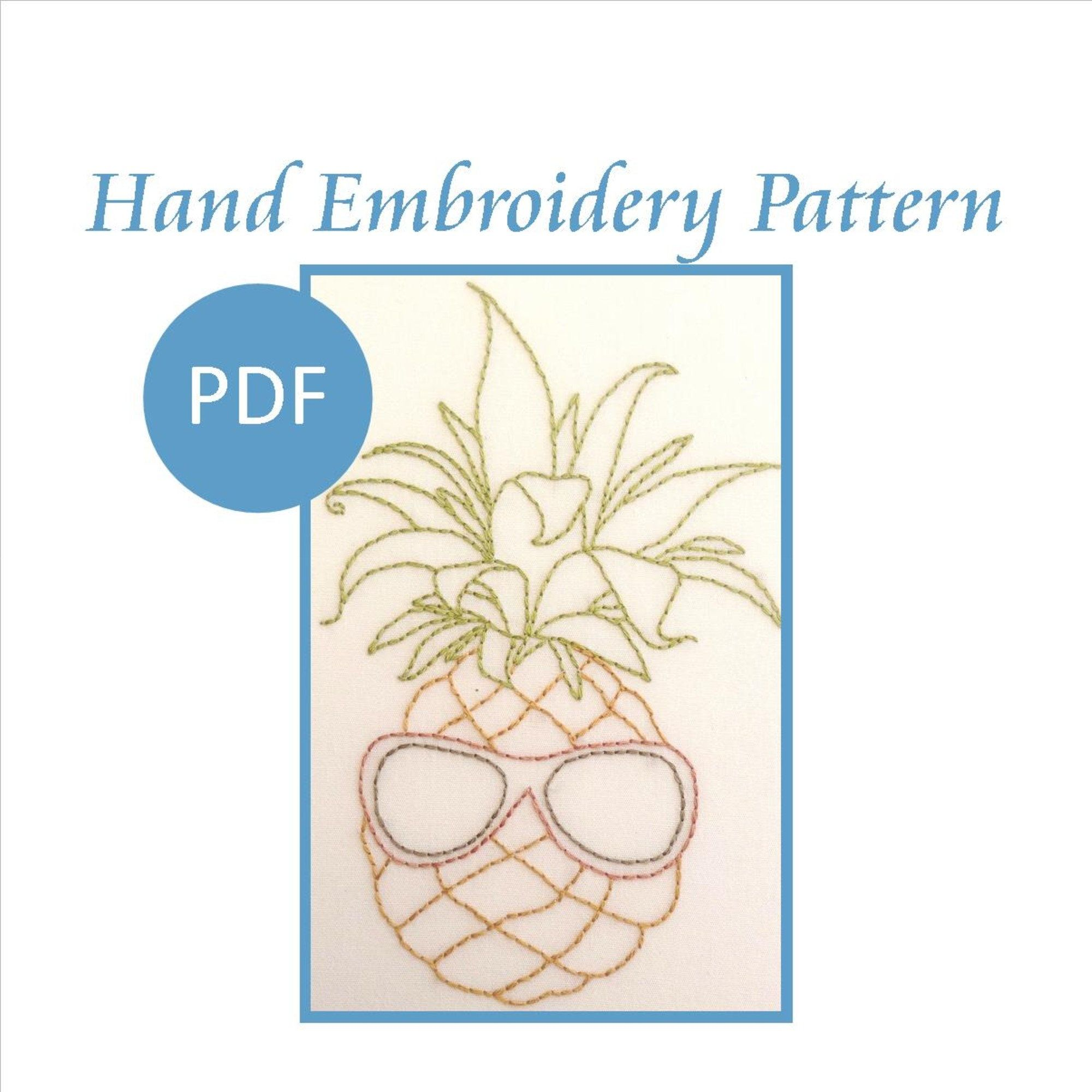 Hand Embroidery Pattern. PDF. Pineapple SG Pattern from