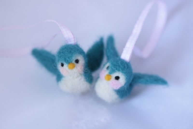 needle felted swallow