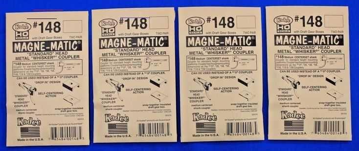 $ 20.79 | Lot of 4 Packs - HO Scale KADEE # 148 MAGNE-MATIC Metal Couplers 2 Pair per pack ❤  #packs...