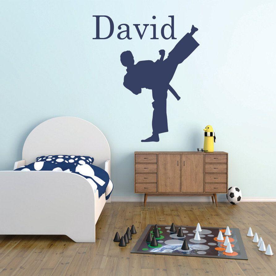 Karate vinyl wall decal, Personalized karate Arts wall ...