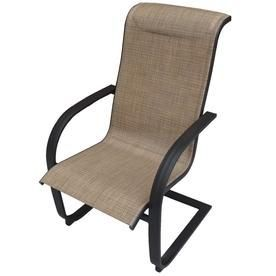 917f05a9faa5 Garden Treasures Verdant Bay 6-Count Matte Brown Steel Patio Dining Chair  Ss-K-359-8H 6