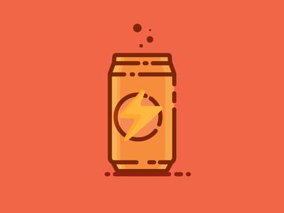Energy Drink Birthday Icon Flat Design Illustration Graphic Illustration