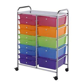 15 Drawer Rolling Craft Cart Consumercrafts Craft Storage Craft Storage Cart Craft Cart Craft Storage Drawers