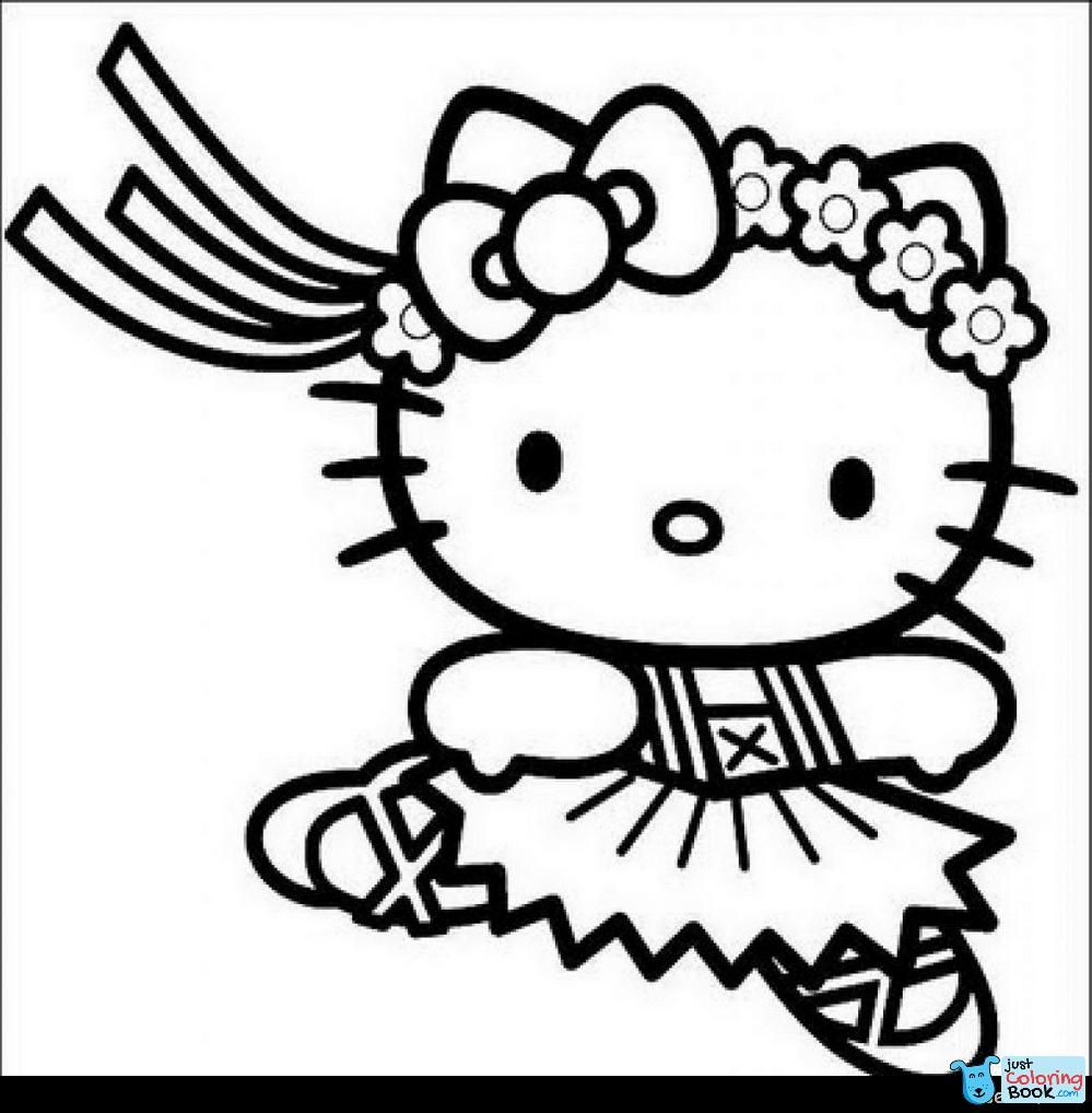 Coloring Pages Phenomenal Hello Kitty Christmas Coloring Image