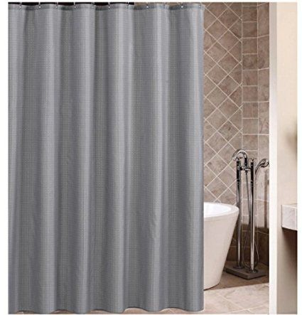 Eforcurtain Checkered Pattern Waterproof Shower Curtain Fabric 72