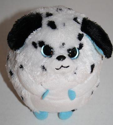 Ty Beanie Babies Ballz Rascal dog Dalmatian white black round balls 5