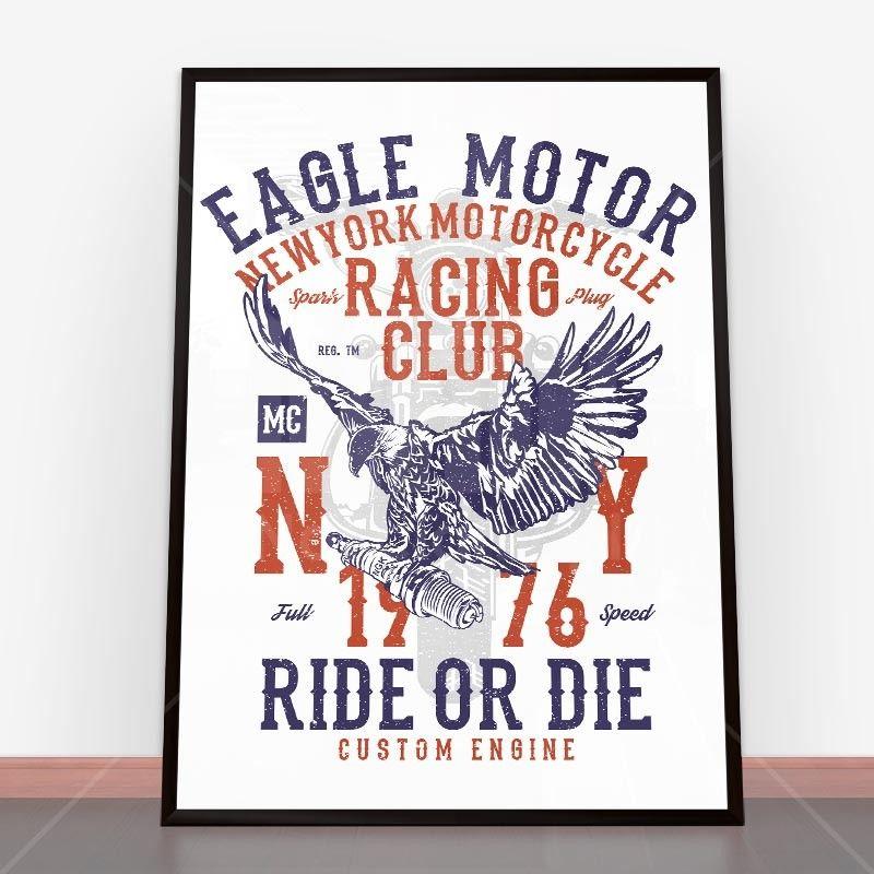 Plakat Eagle Motor Plakaty na ścianę | Plakat, Plakaty ...