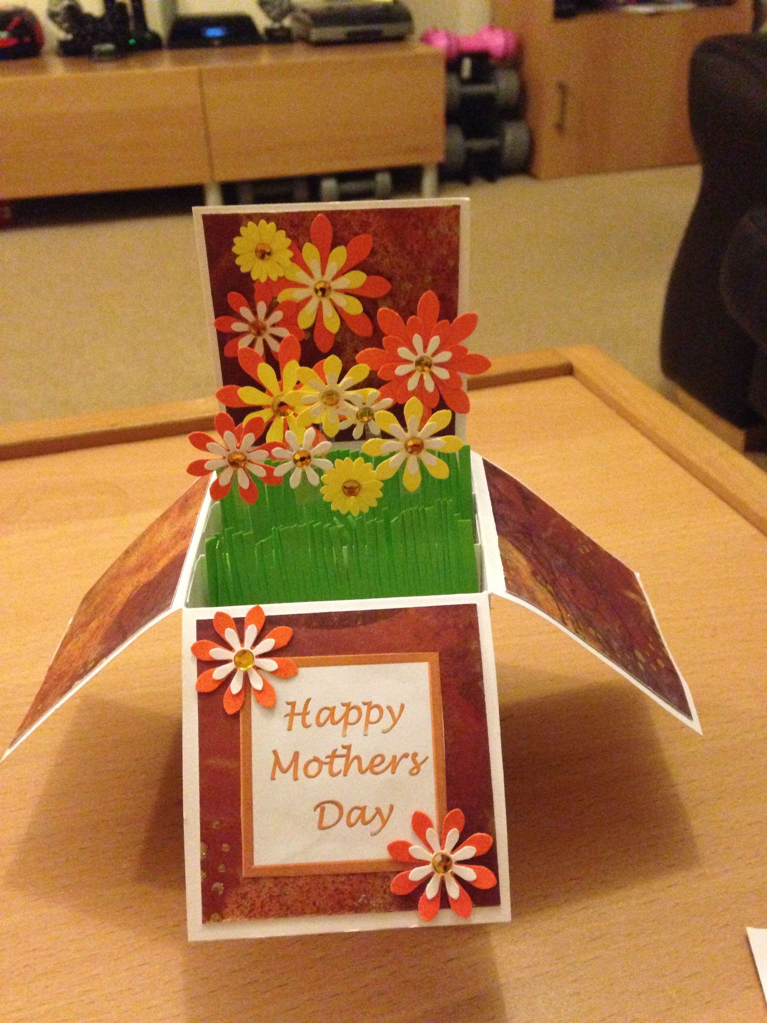 Card in a box pop up cards happy mothers day cards