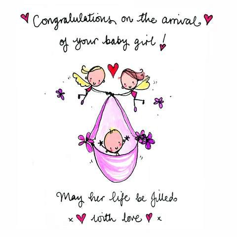 new juicy lucy s121 congratulations new baby girl card baby s