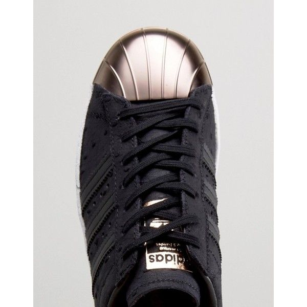adidas superstar scarpe originali nero metallico con rose d'oro