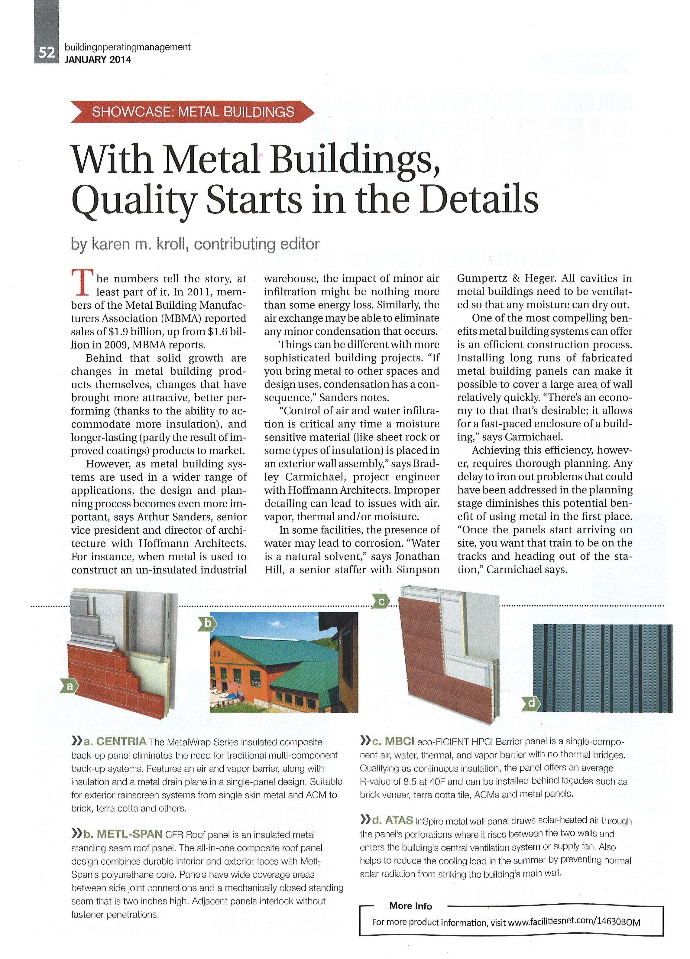 Showcase Metal Buildings Karen Kroll Interviews Art Sanders Aia And Brad Carmichael Pe Building Operating Man Metal Buildings Building Systems Building