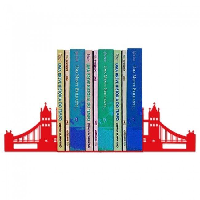 Suporte Aparador de Livros, CDs, DVDs e Blue Ray, Porta Livros Londres, Ponte   Diseño