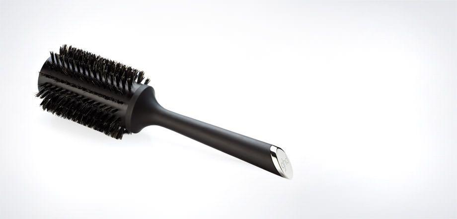 Ghd Natural Bristle Radial Brush Size 3 44mm Barrel In 2020 Natural Bristle Brush Dry Long Hair Shine Spray