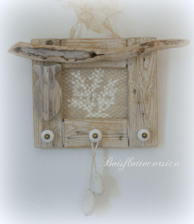 cadre bois flott support bijoux support torchons etc dco bord - Cadre Bois Flotte Decoration