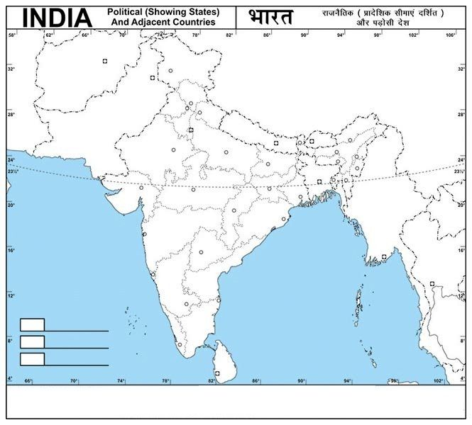 Outline Map Of India Map Of India With States Pinterest - World physical map blank