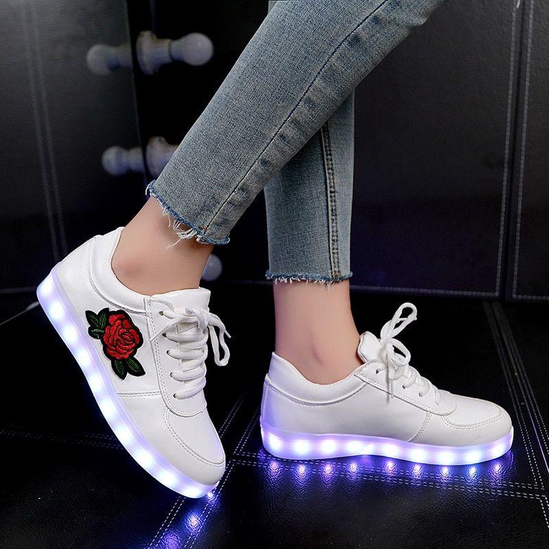 Flower Glowing Shoes   Girls sneakers