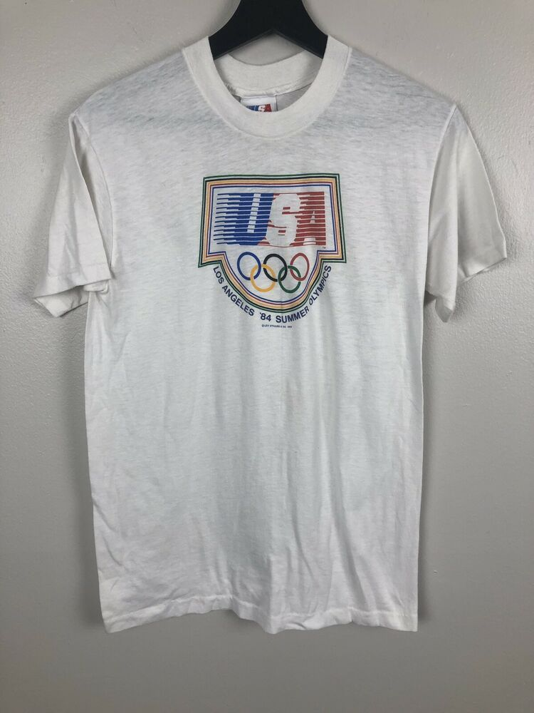 89c95f6ec09 Details about 1984 Los Angeles Olympic Cycling T Shirt Road Track ...