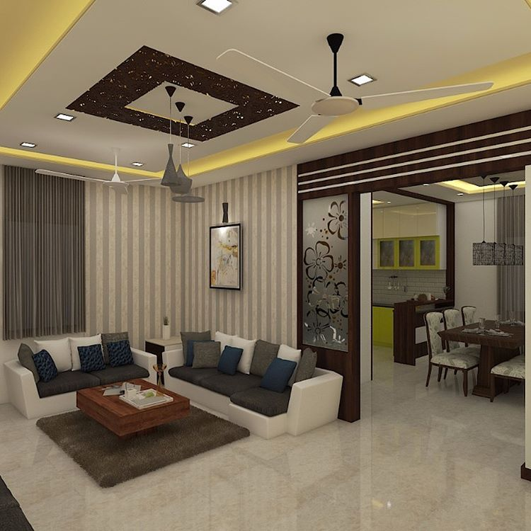 Duplex 2bhk House At Siddipet Doing Complete Interior Work Sidd Ceiling Design Living Room Interior Design Apartment Living Room Living Room Partition Design