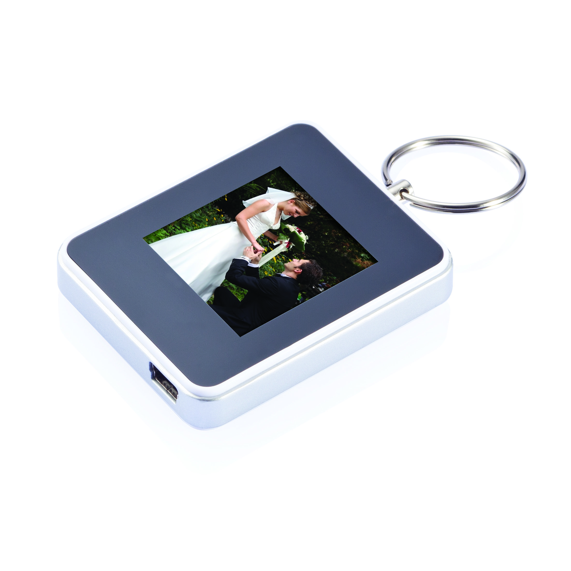 1,5 inch digital square picture frame with keychain. 1,5 inch high ...