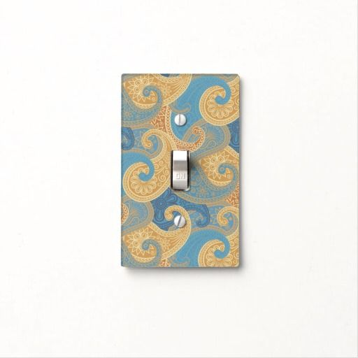 Wild Paisley 4 - Light Switch Cover