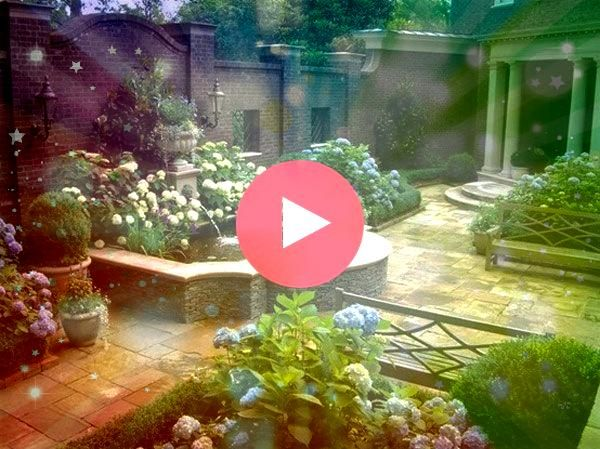 walled courtyard garden  the epitome of quietude and serenity formalgardens Formal walled courtyard garden  the epitome of quietude and serenity formalgardens Formal wall...