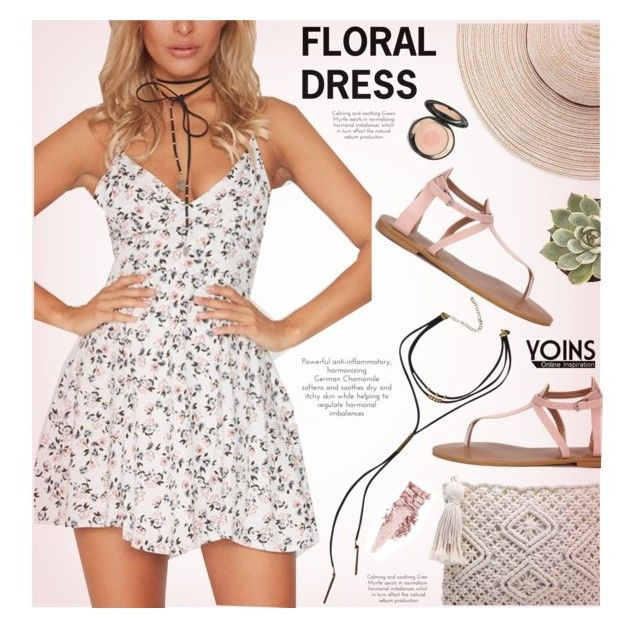 """""""Floral dress - Yoins"""" by yexyka ❤ liked on Polyvore"""