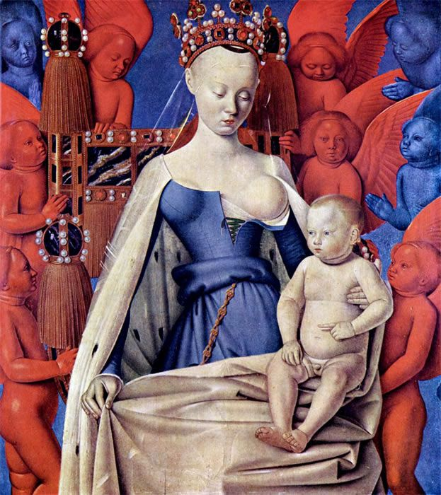 jean fouquet 'virgin and child surrounded by angels'