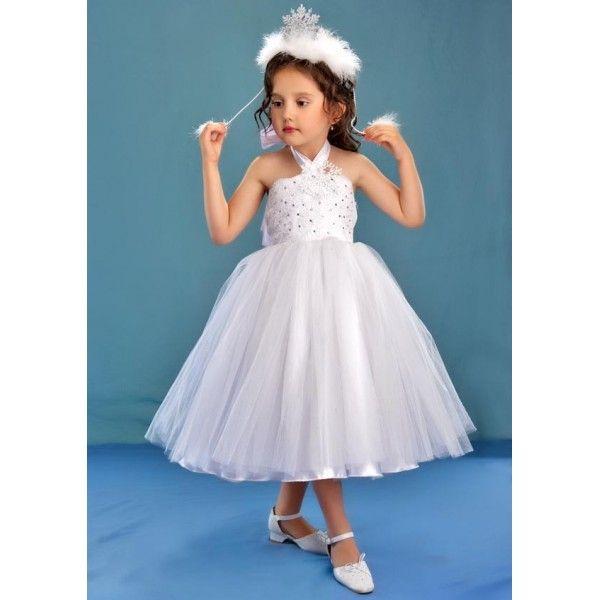 Платье снежинка для девочки на новый год