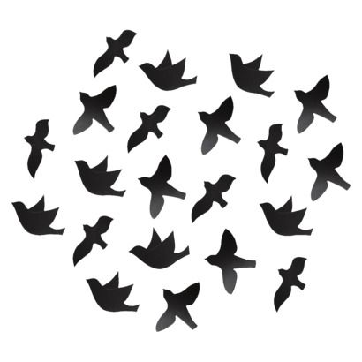 Umbra Loft 21 Piece Flock Bird Wall Décor : Target | Metal ...