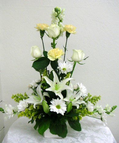 L Shape Fl Arrangement Flower Arrangements Shown In This Section Were Designed And Made By