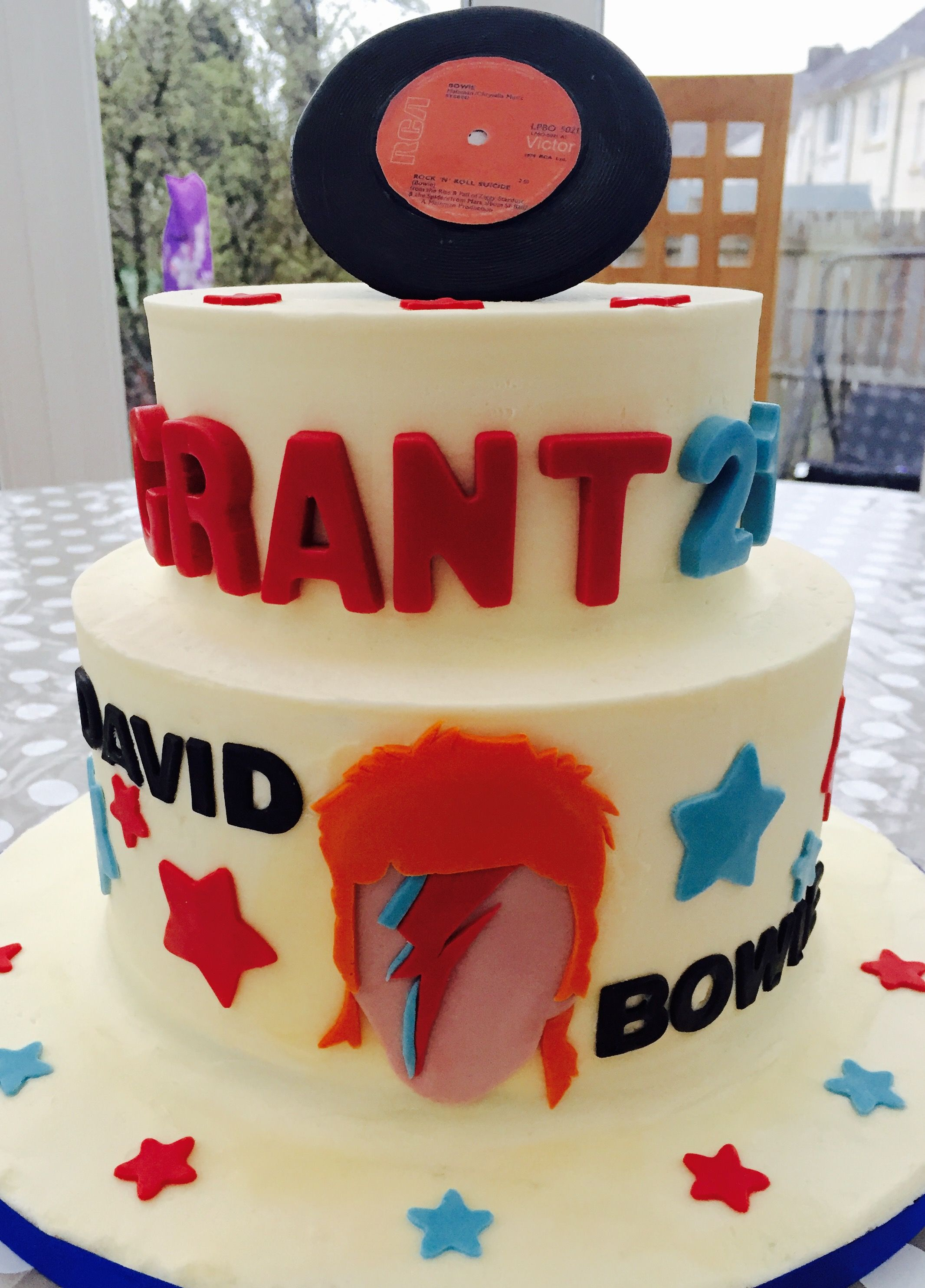 21st Birthday David Bowie Rock And Roll Cake Birthday Party