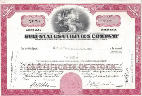 Stock certificate General Motors Corp 1950/'s Less Than 100 shares Delaware