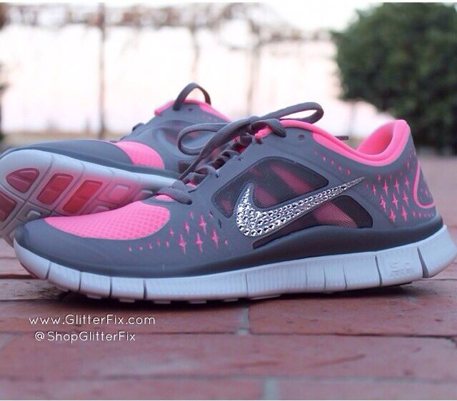 Bling Nikes By Kicks Glitter - Nike Free Run 3 Womens 16e9ad5c4671