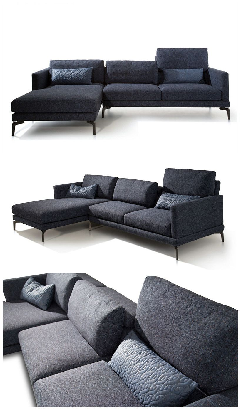 Groovy Simple Big Sectional Sofa With Adjustable Neck Pillow Theyellowbook Wood Chair Design Ideas Theyellowbookinfo