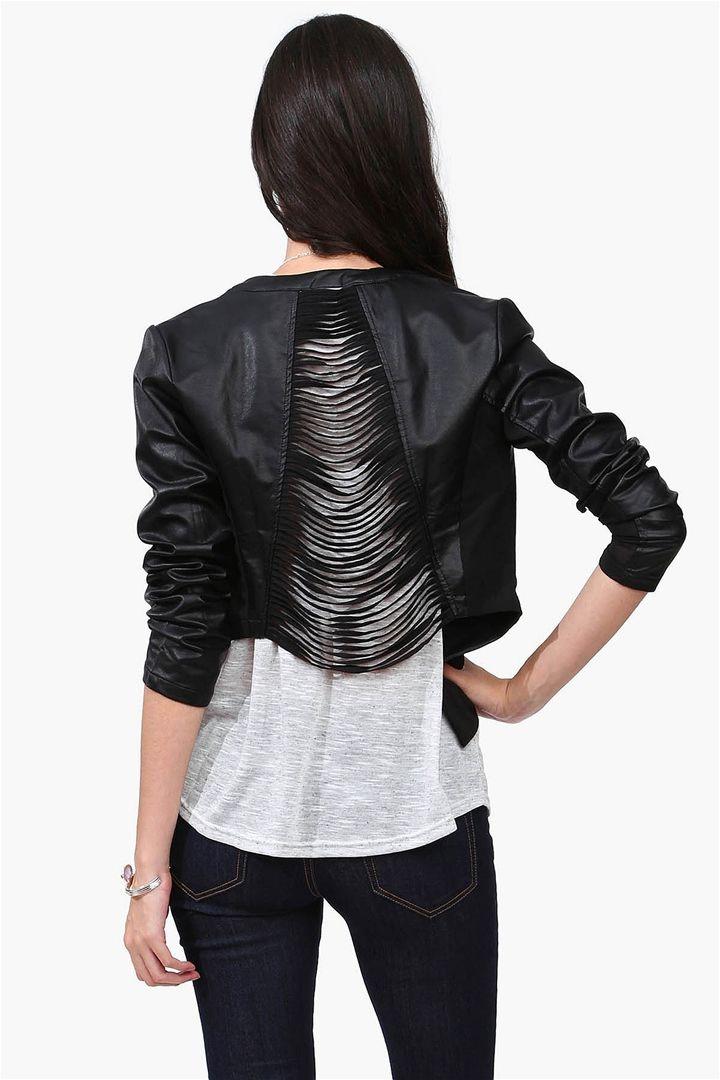 Black Shredded Leather Jacket I Really Like This I Could -6925
