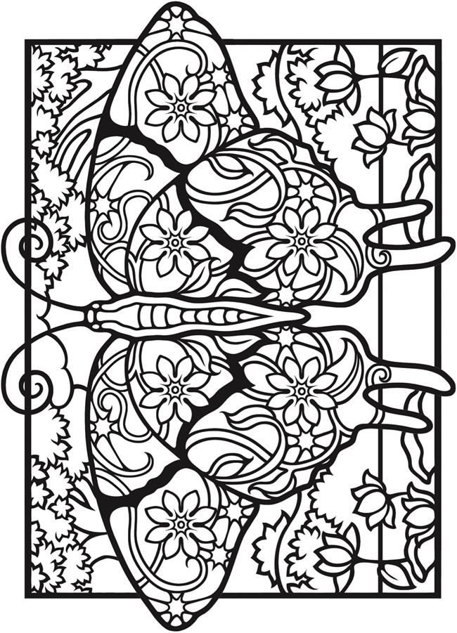 Creative Haven Fantasy Butterflies Coloring Book Butterfly Coloring Page Coloring Books Coloring Pages