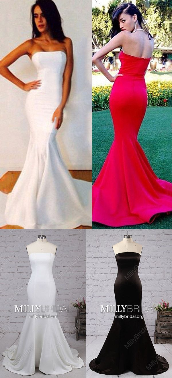 Cheap wedding dresses for military brides  Long Prom Dresses MermaidModest Formal Evening Dresses Strapless