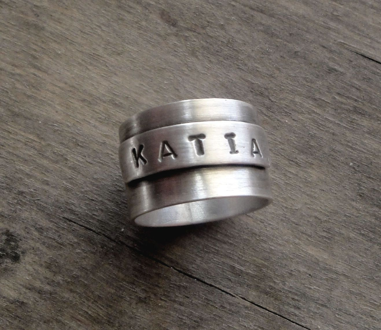 unisex sterling silver ring oxidized by katerinaki1977 on