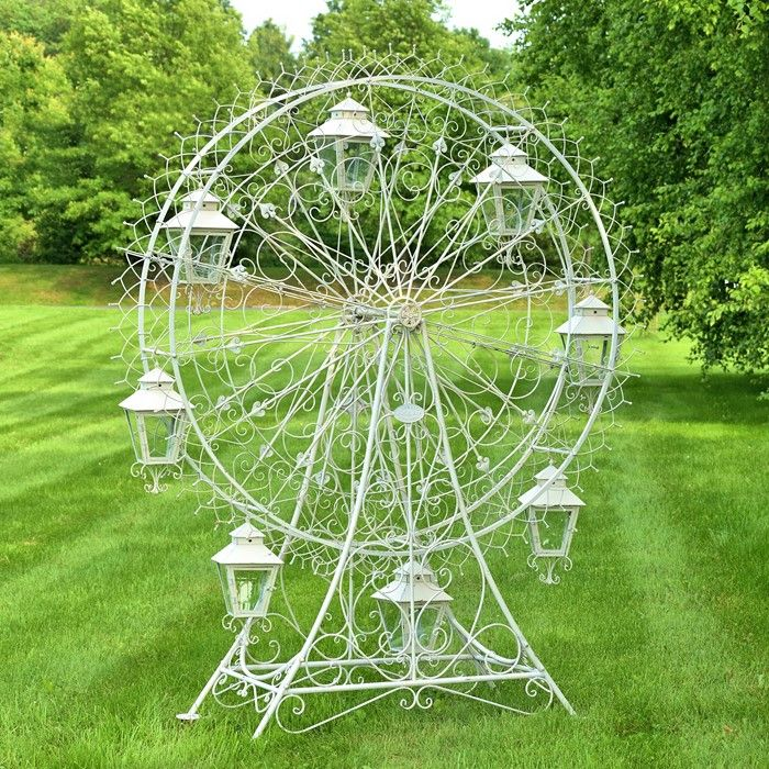 Large Iron Ferris Wheel Quot Atlantic Quot With 8 Hanging Lanterns