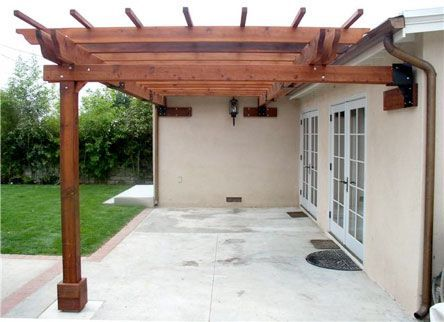pictures of pergolas attached to house | 24-Foot Pergola with Custom Hybrid  Attachment Method - Pictures Of Pergolas Attached To House 24-Foot Pergola With Custom
